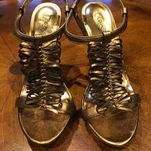 Gold Accent Heels